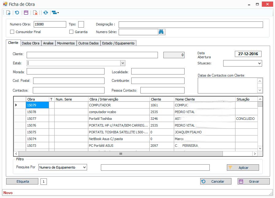 Software Assistência Técnica